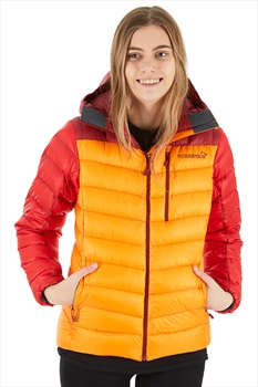 Norrona Lyngen Down850 Ski/Snowboard Jacket, L Orange Crush