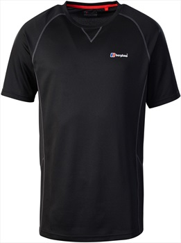 Berghaus Tech Tee 2.0 Short Sleeve Base Layer T-Shirt, S Black