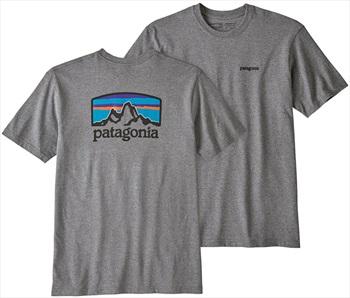 Patagonia FitzRoy Horizon Responsibili-tee S Gravel Heather