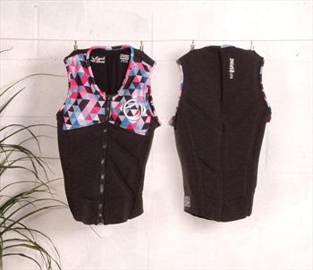 Liquid Force Z Cardigan Ladies Wakeboard Impact Vest, M Coal Multi