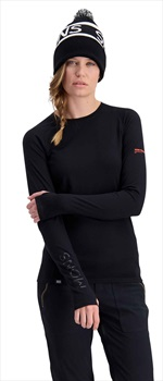 Mons Royale Olympus 3.0 LS Women's Merino Wool Top M Black