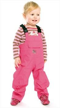 Bushbaby Rip-Stop Dungarees Waterproof Bib Pants, 3 Years Old Pink