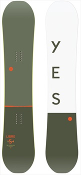Yes. The Libre Hybrid Camber Snowboard, 156cm 2020