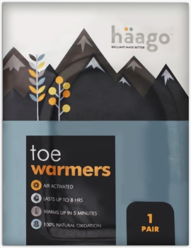 Haago Disposable Recyclable Toe Warmers, One Pair