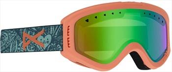Anon Tracker Green Amber Kid's Ski/Snowboard Goggles, S Tangle
