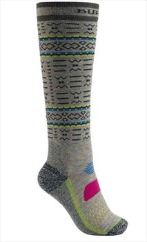 Burton Performance Midweight Women's Ski/Snowboard Socks, S/M Oatmeal