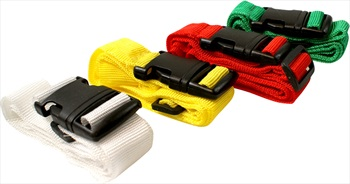 Gone Travelling Adjustable Luggage/Suitcase Strap, Assorted Colours