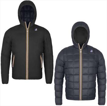 K-Way Jacques Thermo Plus Double Insulated Down Jacket, L Black-Grey