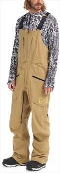 Burton [ak] 3L Freebird Bib GoreTex Ski/Snowboard Pants, M Kelp