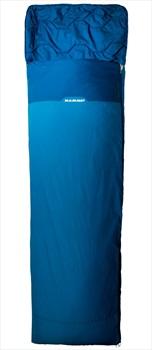Mammut Kompakt MTI Spring Traveller Sleeping Bag, Long Cyan-Cobalt