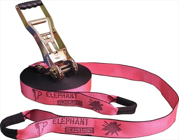 Elephant Slacklines Addict Flash'line Slackline, 25m X 50mm Pink