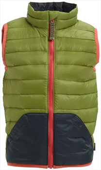 Burton Kids Evergreen Down Insulator Vest Body Warmer, 4T Olive