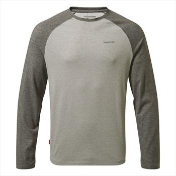 Craghoppers NosiLife Bayame II Long Sleeve T-shirt, XL Grey & Black