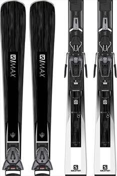 Salomon Womens S/Max W8 L10 GW Women's Skis, 160cm White/Black 2020