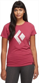 Black Diamond Chalked-Up Tee Women's Cotton T-shirt, XS Wild Rose