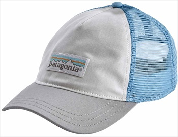 Patagonia Womens Women's P-6 Label Layback Trucker Hat, OS White/Grey