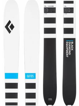 Black Diamond Helio Recon 105 Skis, 185cm Black/White 2021