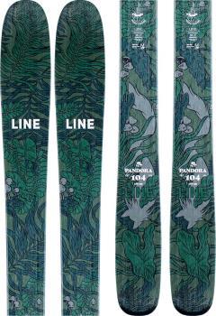 LINE Womens Pandora 104 Women's Skis 172cm, Green/Blue , Ski Only, 2021