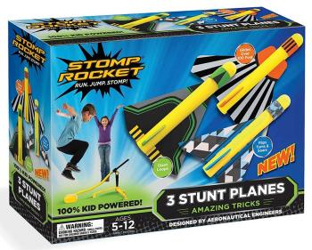 Stomp Rocket Stomp Stunt Planes Rocket, Yellow