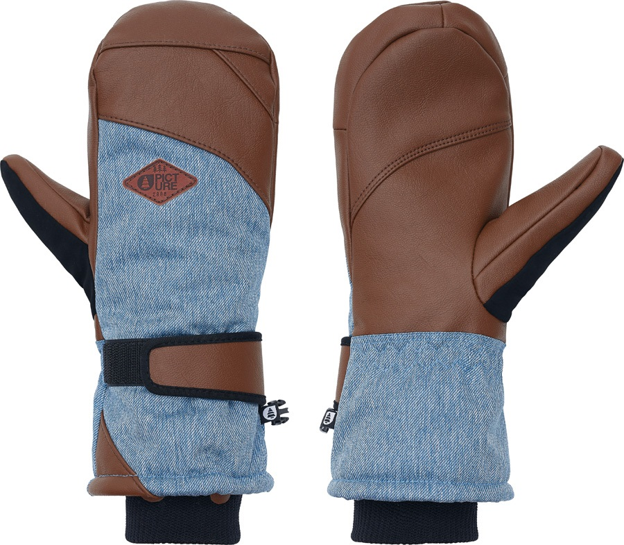 Picture Anna Women's Snowboard/Ski Mitts, XS Denim