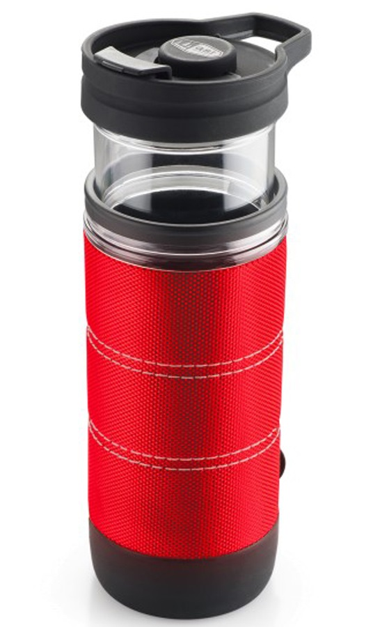 GSI Outdoors Commuter Javapress French Press Travel Coffee Mug, Red