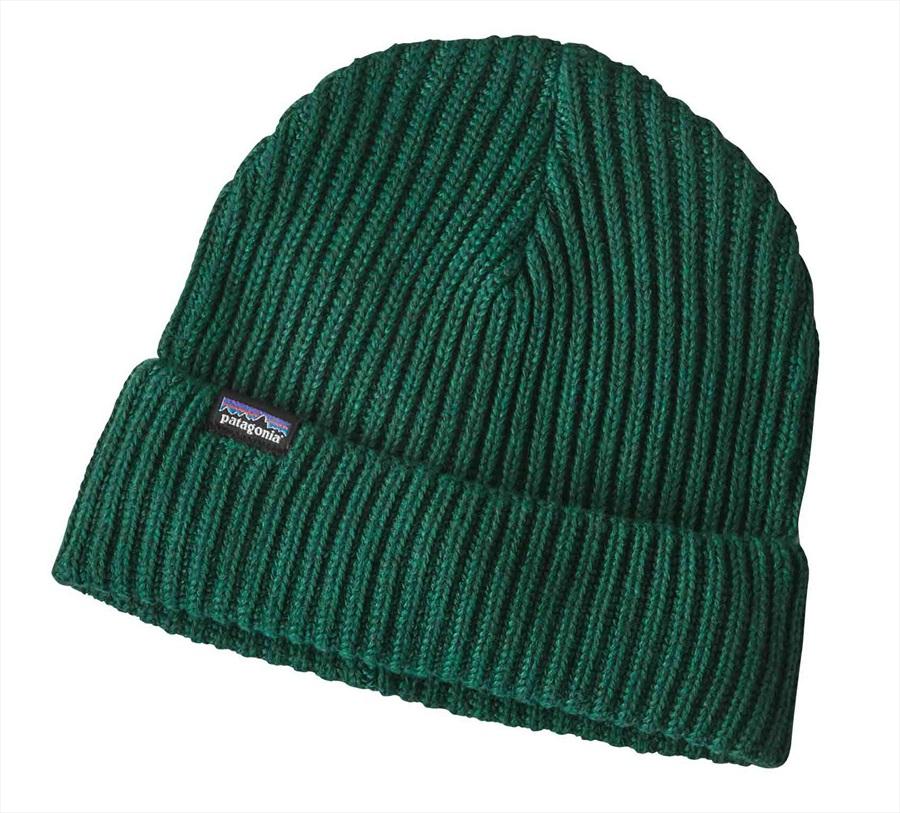 Patagonia Fisherman's Rolled Beanie Cuffed Beanie Hat, OS Micro Green