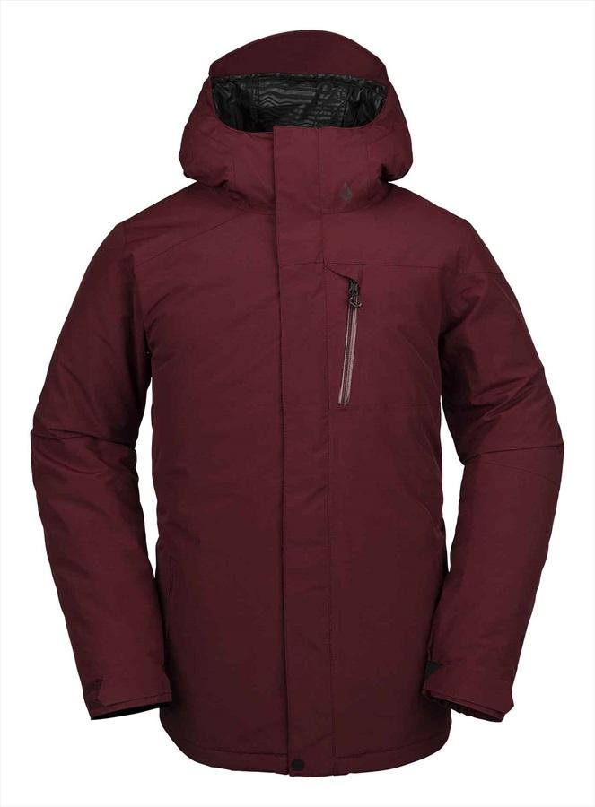Volcom L Insulated Ski & Snowboard Gore-Tex Jacket M Burnt Red