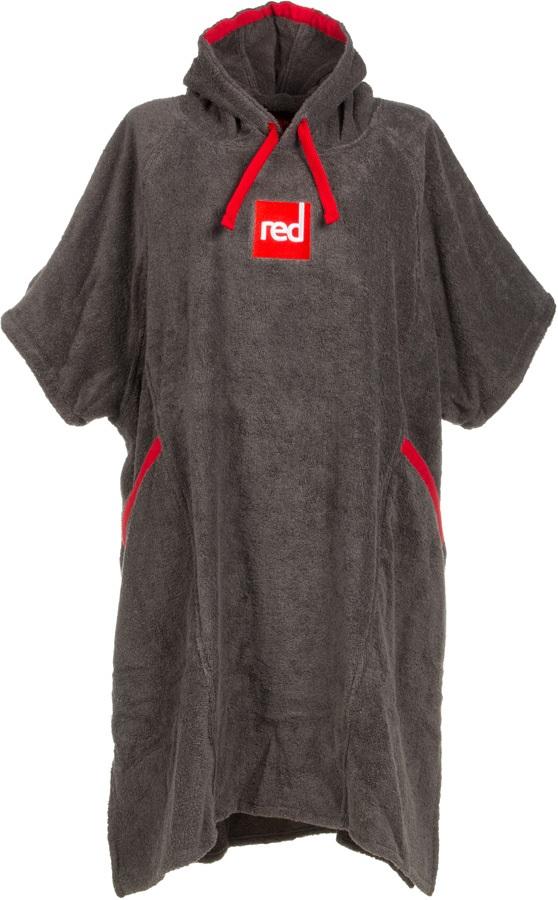 Red Original Luxury Towelling Change Robe Dressing Dry Towel, Medium
