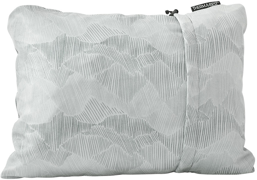ThermaRest Compressible Travel Pillow Camping Pillow, M Grey