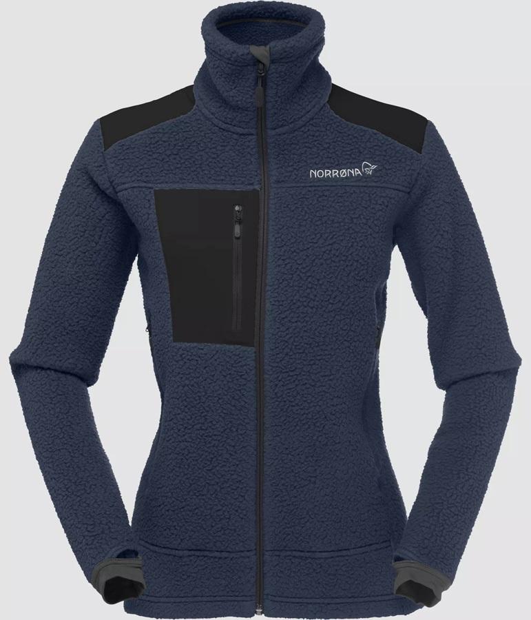 Norrona Trollveggen Thermal Pro Women's Fleece Jacket UK 10 Cool Black