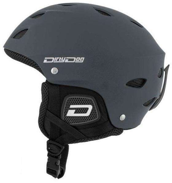 Dirty Dog Orbit Snowboard/Ski Helmet, XXL Matte Dark-Grey