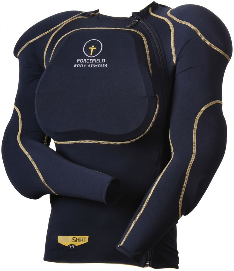 Forcefield Sports Shirt 1 Body Armour With Back Protector, L Navy