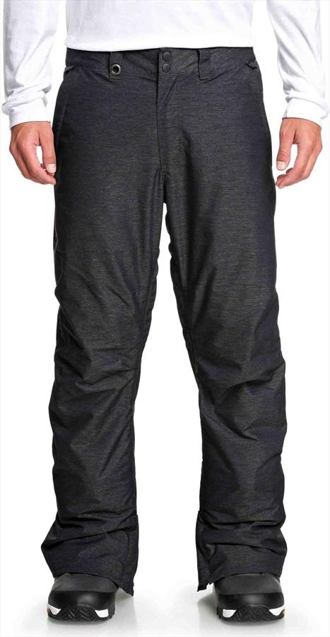 Quiksilver Estate Textured Insulated Snowboard/Ski Pants, M Black