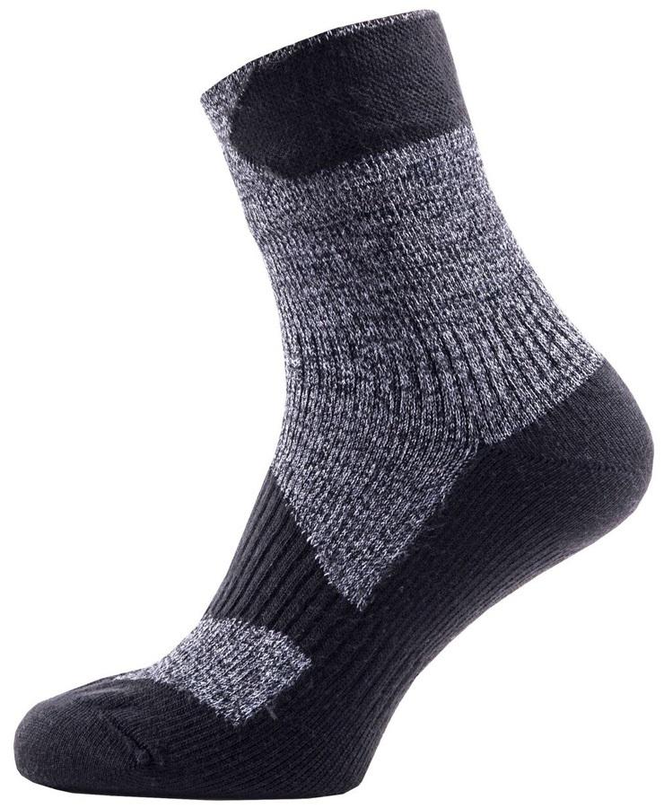 SealSkinz Walking Thin Ankle Waterproof Socks, XL Dark Grey/Black