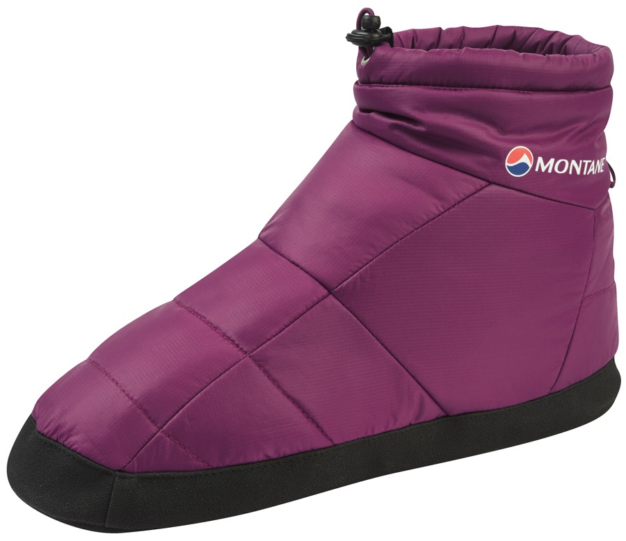 Montane Prism Bootie Insulated Camping Slippers, XS Dahlia