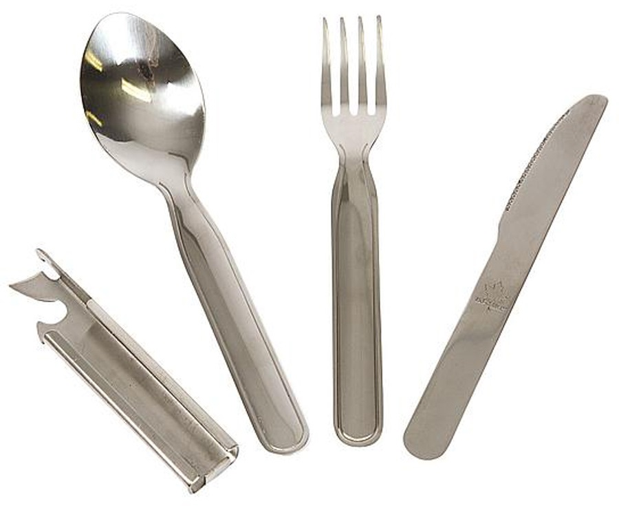 Bo-Camp 4-Piece Cutlery Set Camping Utensil Set, 4PC Steel