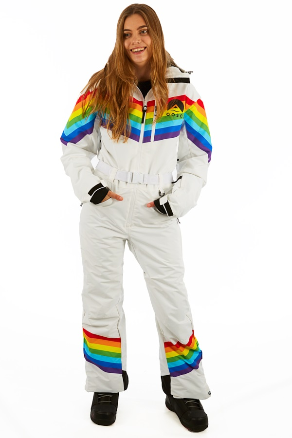 Womens Snow Suit One Piece >> Oosc Snow Suit Women S Snowboard Ski One Piece M Rainbow Road