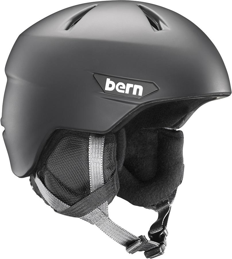 Bern Weston JR. Ski/Snowboard Helmet S/M Matte Black