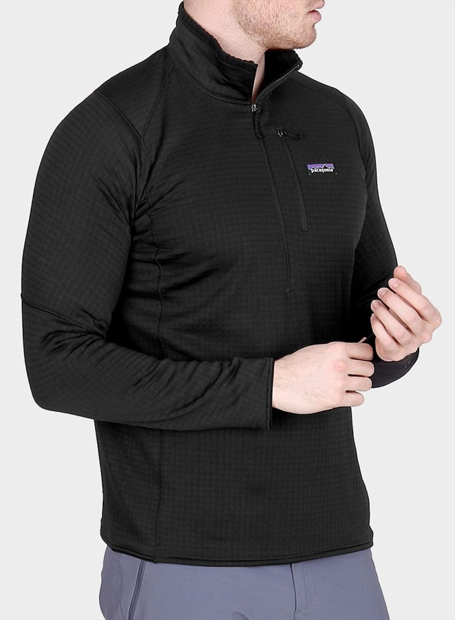 e9f0189d846 Patagonia Adult Unisex Men's R1 Pullover Mid-Layer Jumper, S Black