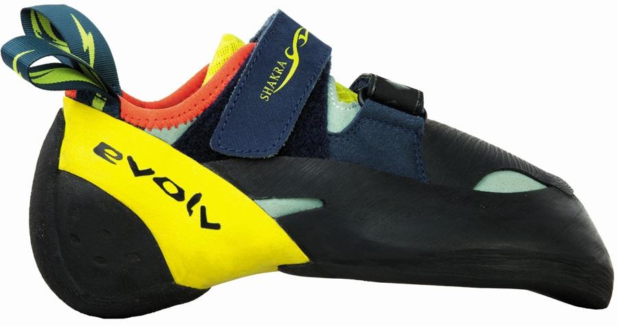 Evolv Womens Shakra Rock Climbing Shoe, UK 3 Aqua Neon