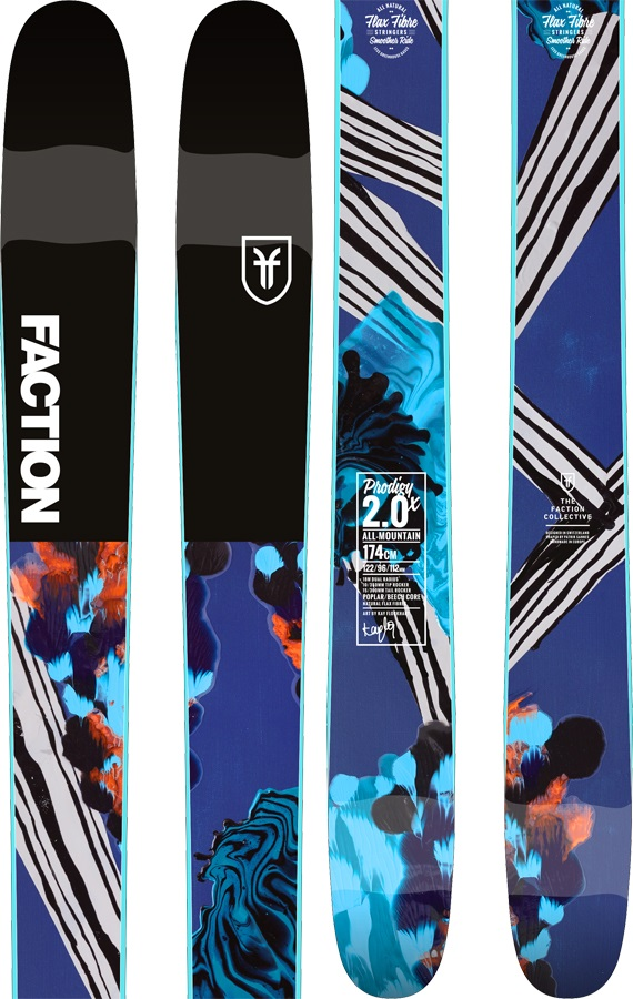 Faction Prodigy 2.0 X Skis, 154cm 2019
