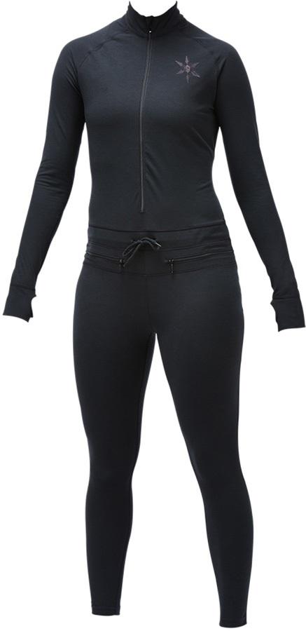 Airblaster Womens Ninja Suit Thermal Base Layer, M Black