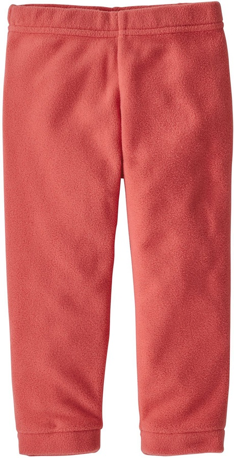 Patagonia Baby Micro D Fleece Bottoms, 2T Spiced Coral Graphic