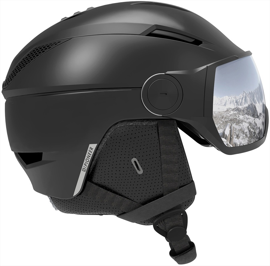 Salomon Pioneer Visor Universal Silver Snowboard/Ski Helmet, M Black