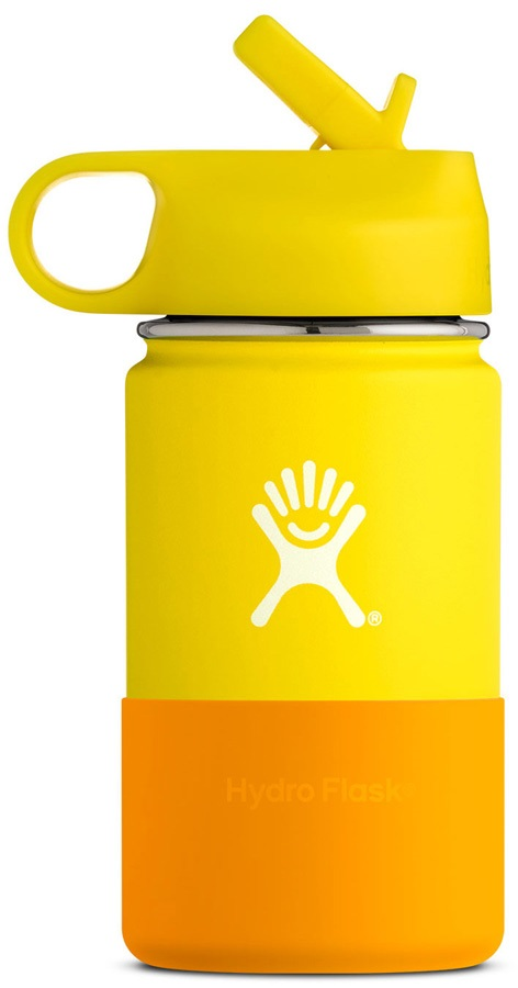 Hydro Flask Kid's 12oz Wide Mouth With Straw Lid Bottle - Lemon