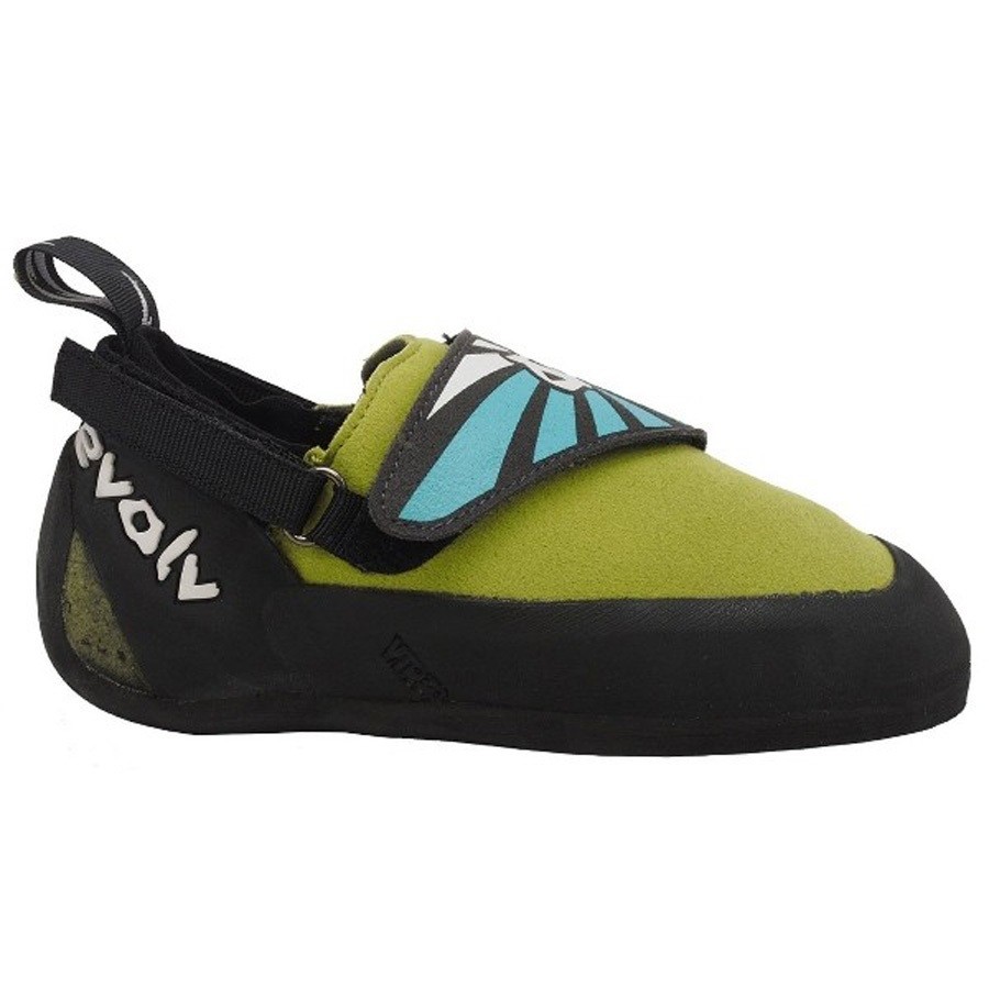 Evolv Venga Kids Rock Climbing Shoe UK 4 Lime Green / Blue