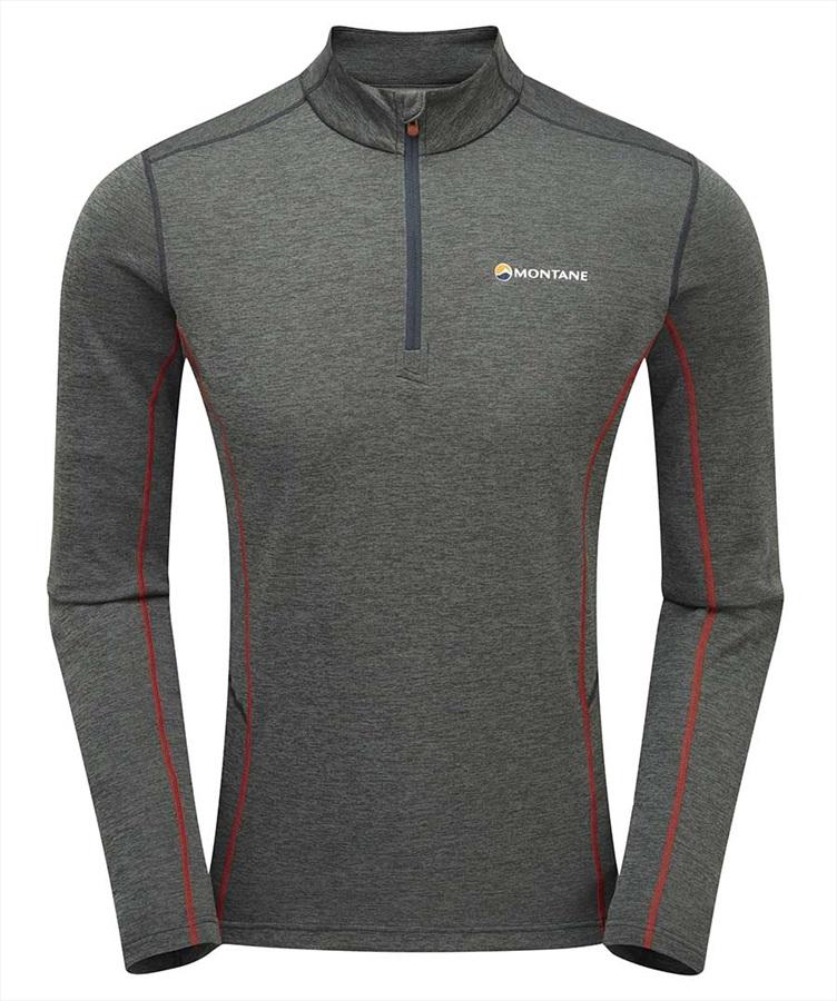 Montane Adult Unisex Dart Zip Neck T-shirt, XL Shadow