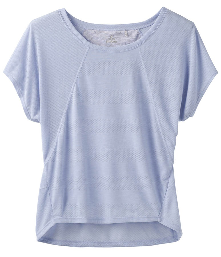 Prana Oriana Top Women's T-Shirt, S Blue Sheen