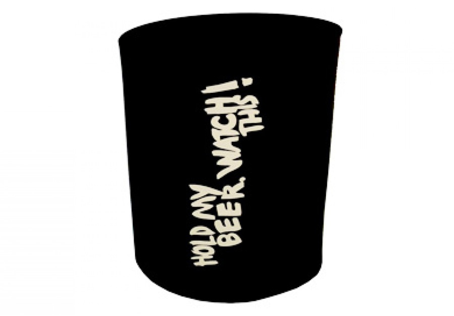 One Ball Jay Hold My Beer, Watch This! Beer Koozie, One Size, Black
