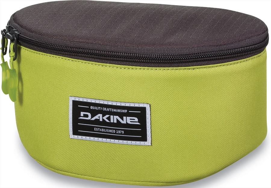 Dakine Stash Goggle Case Bag, Dark Citron